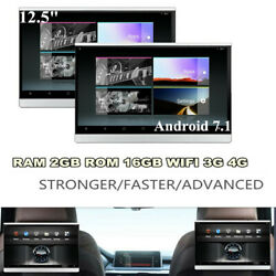 Android 7.1 Eight Core 12.5 inch Car Rear Seat Monitors Headrest HDMI WIFI AUX