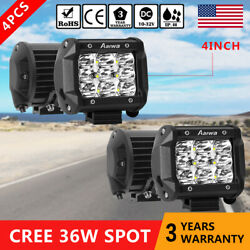 4pcs 36w Led Work Light Pods Spot Fog Offroad Lamp For Atv Jeep Ute Suv 4and039and039 Cube