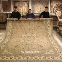 Clearance! Yilong 10'x14' Large Thick Wool Silk Area Rug Carpet Handcraft 1501