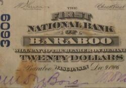Baraboo Wisconsin Wi 1902 20 Pb Ch 3609 The First National Bank Pmg 20