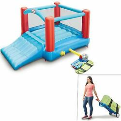 Little Tikes Pack 'N Roll Go Inflatable Bounce House With Wheeled Carry Case