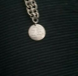 Sterling Silver Choker Necklace With Pendent