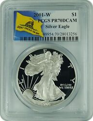 2001-w Pcgs Pr70dcam Silver Eagle Dont Tread On Me Label