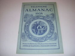 Telephone Almanac 1938, American Telephone And Telegraph Company, Softcover