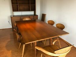 Plycraft mid century modern table and 6 chairs designed by Norman Cherner-1958-