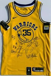 2018-19 GOLDEN STATE WARRIORS TEAM SIGNED NIKE JERSEY STEPHEN CURRY DURANT JSA