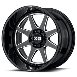 Xd Series Xd844 Pike 20x12 5x127 Offset -44 Gloss Black Milled Quantity Of 4