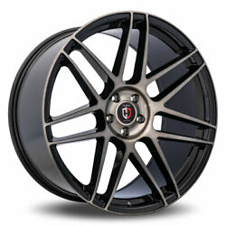 Curva C300 Rim 24x10 5x120 Offset 35 Black With Machined Tinted Face Qty Of 4