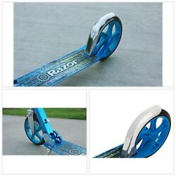 LUX SCOOTER Retractable Center Stand Extra Large Urethane Exclusive Spoke Design