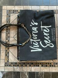 Victoria Secret Fifth Avenue New York Large Bag with Chain Design in Black