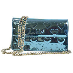 NEW Marc by Marc Jacobs Mirror Hear Chain Clutch Evening Bag Blue EYE CANDY $69.99