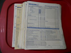 Honda Dealers 1970 Daily Sales And Cash Record Sheets Qty60 A