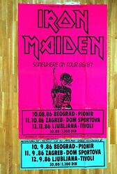 Giant Poster Iron Maiden 1st Gigs On Tour Somewhere In Time 10/11/12 Aug 1986 .