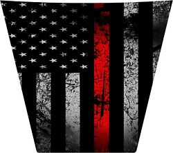 16-current Honda Pioneer 1000 Gloss Thin Red Line Flag Fire Hood Decal Graphic