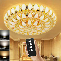 Modern Remote Control K9 Crystal Ceiling Lamps Led Chandeliers Lighting Fixture