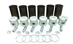 Fits Mitsubishi S6s Forklift Engine Kit Pistons Gaskets Bearings Non Turbo