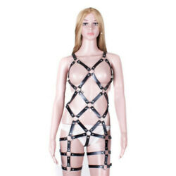 Full Body Sexy Body Harness Chest Cupless Bra Belts Corset Jumpsuit Suspenders