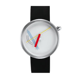 Projects Watches Diagram Steel Quartz Silicon White Red Yellow Blu Unisex Watch