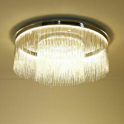 Stylish Led Ceiling Light Pendant Lamp Silver Iron Chain Lamp Chandeliers 2118