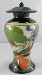 Moorcroft Ryden Fields Jar With Lid Designed By Emma Bossons 1st Quality Nice