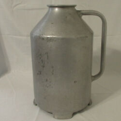 Vintage Cast Aluminum Dairy Cow's Milk Jug With Fixed Handle 18 Tall 18 Gallon
