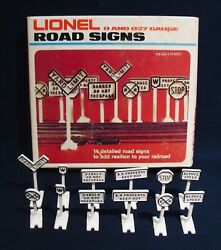 Vintage Lionel Road Signs Kit0 Gaugeit Comes With The Original Box