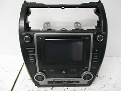 12 13 Toyota Camry Single CD Player Radio w/ Climate Controls OEM