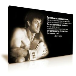 Rocky Balboa Movie Boxing Quote Canvas Modern Home Art 5 Sizes To Choose