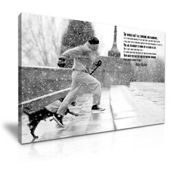 Rocky Balboa Dog Movie Boxing Quote Canvas Modern Home Art 5 Sizes To Choose