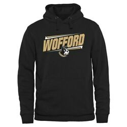 Wofford Terriers Black Double Bar Pullover Hoodie