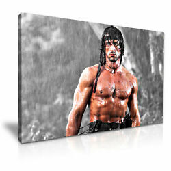 Rambo Sylvester Stallone Movie Poster Canvas Modern Art 5 Size To Choose
