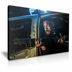 Bright Will Smith Movie Poster Canvas Modern Art 5 Size To Choose