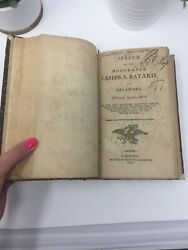 Us History Pamphlets 1800-1810 Columbia College New York Antique Book Rare Copy