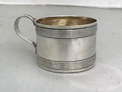Childandrsquos Cup Mug Gorham Sterling Silver Rolled Edge Merry Christmas Ethel 1886