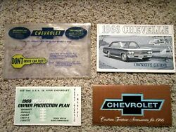 1966 Chevelle Sport Cpe. Factory Gm Original Owners Manual Package Complete Mint
