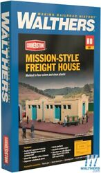 Walthers 933-2921 Mission-style Freight House Kit 9-1/2x6-1/2 X 2-1/2 Ho Scale