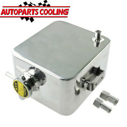 Universal 2.5l Aluminum Coolant Radiator Overflow Recovery Water Tank Bottle Us