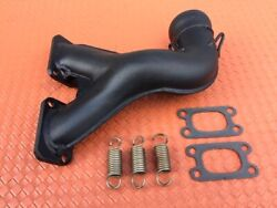 Rotax 447 377 Engine Exhaust Manifold Ypipe Header Elbow W/ Gaskets And Springs