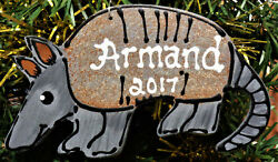 Armadillo Ornament U Choose Name And Year Personalized Name Christmas Holiday