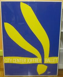 Original 1968 JACK YOUNGERMAN 'City Center Joffrey Ballet' NYC Silkscreen Poster
