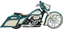 Python Rayzer Chrome 2-into-1 Full Exhaust System Megaphone Harley Touring 07-16