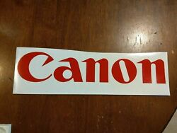Canon Photography Camera Decal Any Size Any Colors Available Car Truck Laptop