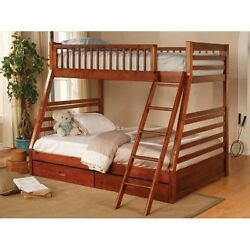Coaster Furniture 460183 TwinFull Bunk Bed Honey Oak NEW