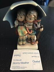 Hummel Figurine Stormy Weather And Happy Traveller