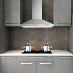 30 Stainless Steel Wall Mount Kitchen Range Hood 500 Cfm 3 Speed Control W/ Led