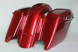 Ember Red Sunglo 4.5andrdquo Abs Both Cutouts Bags Cvo Rear End For 2008 And Older Harley
