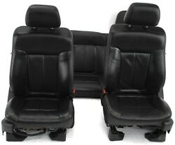 2011-2014 Ford F150 Rear Bench Front Passenger / Driver Side Leather Seat Black