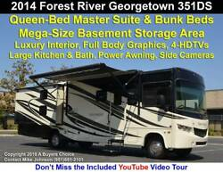 2014 Forest River Georgetown 351 DS Bunkhouse Bunk Bed Model with Front Electric