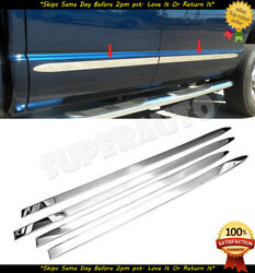 Fits 2009-2018 Ram Crew Cab 1.5and039and039 Wide Flat Steel Body Side Molding Trim