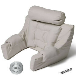 Lounger Pillow Backrest Cushion Neck Support Bed Rest Back Reading Seat Arm Twil